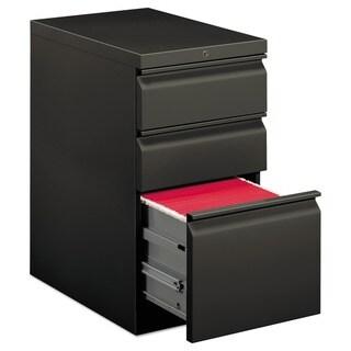 HON Efficiencies Mobile Pedestal File w/1 File/2 Box Drawers, Charcoal
