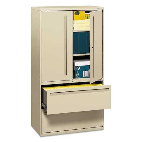 HON 700 Series Lateral File w/Storage Cabinet, Putty