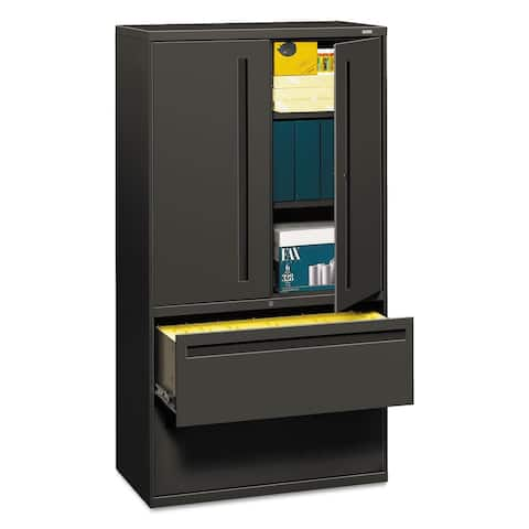 HON 700 Series Lateral File w/Storage Cabinet, Charcoal