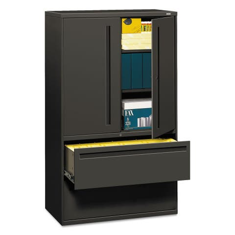 HON 700 Series Lateral File w/Storage Cabinet, 42w x 19.25d, Charcoal