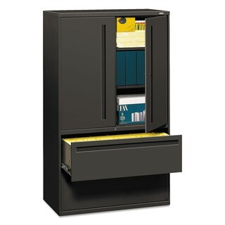 HON 700 Series 42-Inch Two-Drawer Lateral File Cabinet in Charcoal