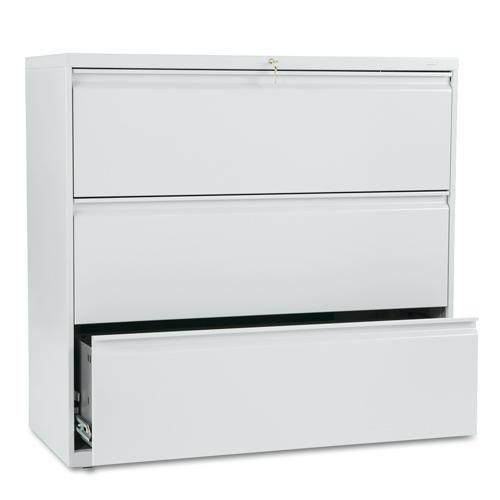 HON 800 Series 42-inch Wide 3-Drawer Lateral File Cabinet  sc 1 st  Overstock.com & Shop HON 800 Series 42-inch Wide 3-Drawer Lateral File Cabinet ...