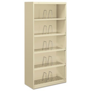 HON 600 Series Jumbo Steel Open File, Five-Shelf, Putty