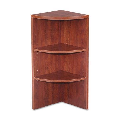 Alera Valencia Series Corner Bookcase - Medium Cherry