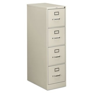 HON 510 Series 4-drawer Full-Suspension Light Grey File Cabinet