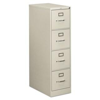 HON 510 Series 4-drawer Full-Suspension Light Grey File Cabinet