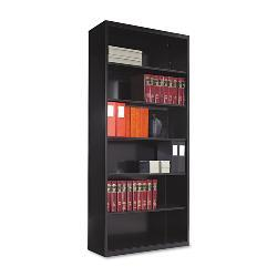 Tennsco 78-inch High 5-Shelf Metal Bookcase