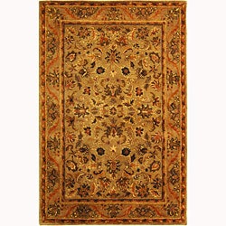 Safavieh Handmade Antiquities Kasadan Olive Green Wool Rug (4' x 6')