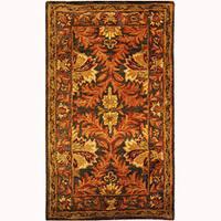 Safavieh Handmade Kerman Sage/ Gold Wool Runner (2'3 x 4')