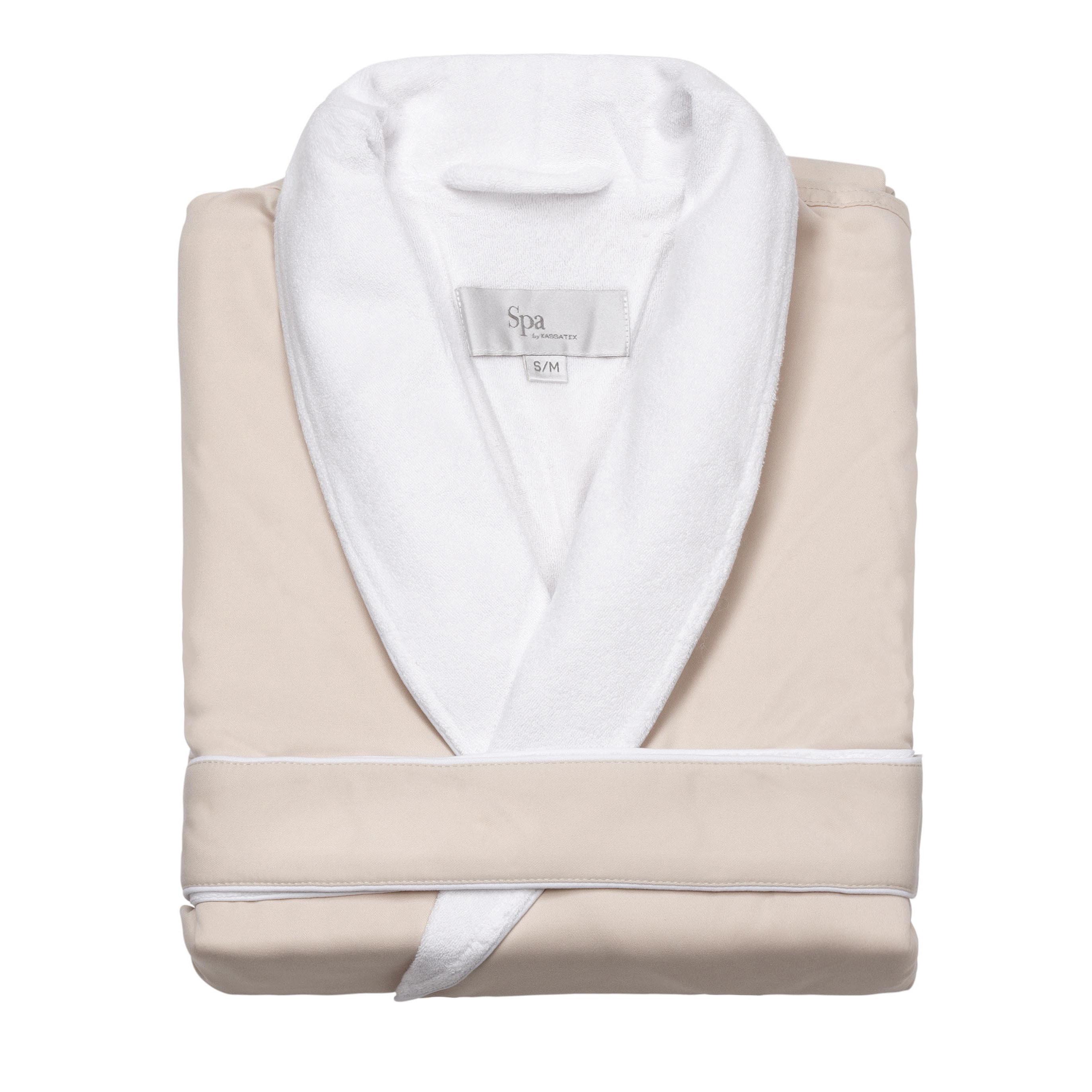 Luxurious Spa Bath Robe S/M (Cream), Women's, Size: S-M, ...