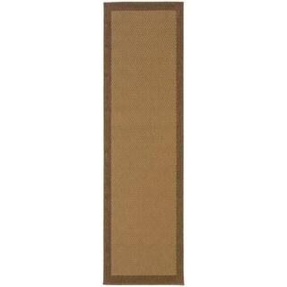 StyleHaven Borders Beige/Brown Indoor-Outdoor Area Rug (2'3x7'6)