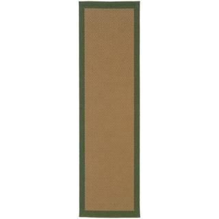 StyleHaven Borders Beige/Green Indoor-Outdoor Area Rug (2'3x7'6)