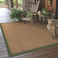 StyleHaven Borders Beige/Green Indoor-Outdoor Area Rug (5'3x7'6)