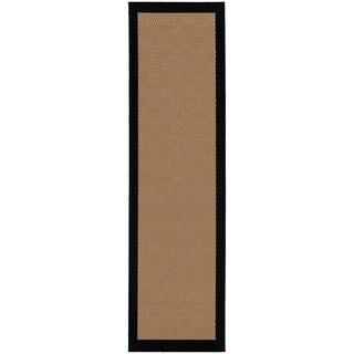 Carbon Loft Addis Borders Beige/ Black Indoor/ Outdoor Area Rug - 2'3 x 7'6