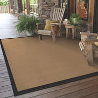 Carbon Loft Addis Borders Beige/ Black Indoor/ Outdoor Area Rug - 7'3 x 10'6
