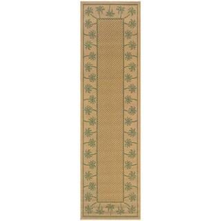 StyleHaven Palm Borders Beige/Green Indoor-Outdoor Area Rug (2'3x7'6)