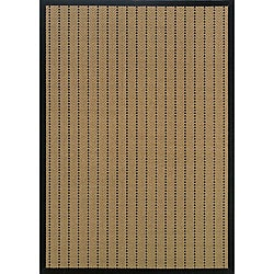 Laguna Beige and Black Rug (7'3 x 10'6)