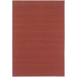 StyleHaven Solid Woven Loop Red Indoor-Outdoor Area Rug (3'7x5'6)
