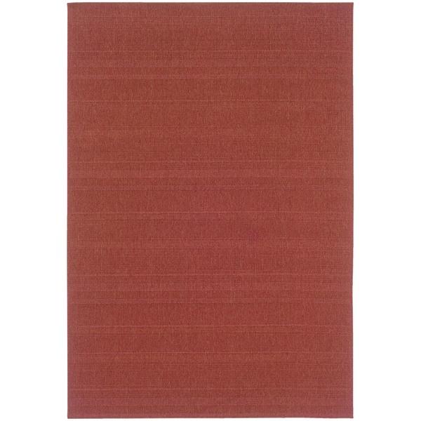 StyleHaven Solid Woven Loop Red Indoor-Outdoor Area Rug (7'3x10'6)