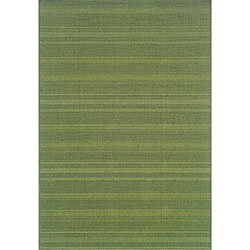 StyleHaven Solid Woven Loop Green Indoor-Outdoor Area Rug (3'7x5'6)