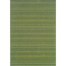 StyleHaven Solid Woven Loop Green Indoor-Outdoor Area Rug (5'3x7'6)