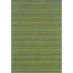 """StyleHaven Solid Woven Loop Green Indoor-Outdoor Area Rug - 5'3"""" x 7'6"""""""