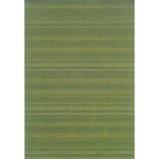 StyleHaven Solid Woven Loop Green Indoor-Outdoor Area Rug (7\'3x10\'6 ...