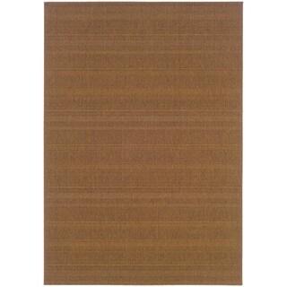 StyleHaven Solid Woven Loop Tan Indoor-Outdoor Area Rug (5'3x7'6)