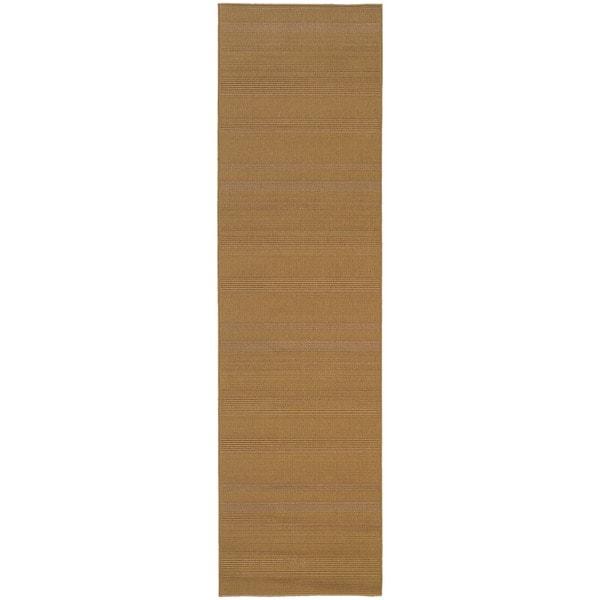 StyleHaven Solid Woven Loop Beige Indoor-Outdoor Area Rug (2'3x7'6)