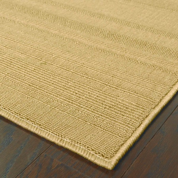 StyleHaven Solid Woven Loop Beige Indoor-Outdoor Area Rug (5'3x7'6)