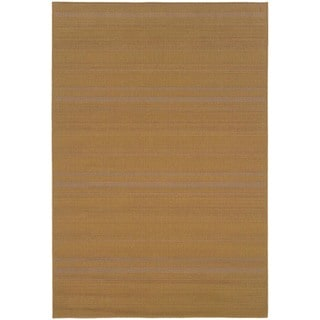 StyleHaven Solid Woven Loop Beige Indoor-Outdoor Area Rug (7'3x10'6)