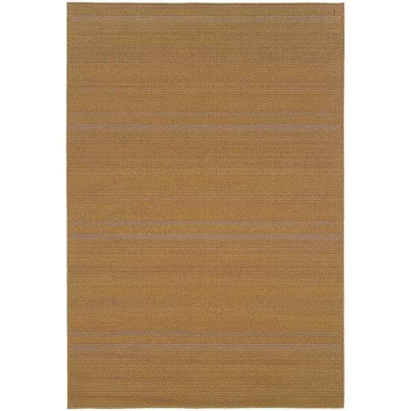 StyleHaven Solid Woven Loop Beige Indoor-Outdoor Area Rug (7'3x10'6) - 7'3 x 10'6
