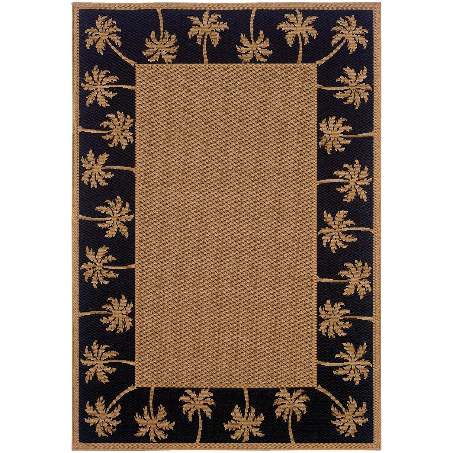 Style Haven StyleHaven Palm Borders Beige/Black Indoor-Ou...