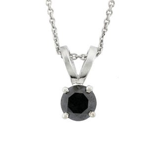 DB Designs Sterling Silver 1ct TDW Black Diamond Necklace