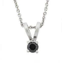 DB Designs Sterling Silver 1/4ct TDW Black Diamond Necklace