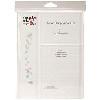 Apple Pie Memories Acrylic Stamping Block Kit