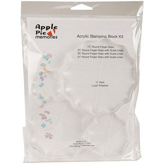 Apple Pie Memories Round Acrylic Stamping Block Kit
