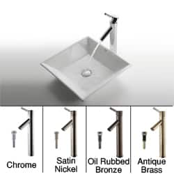 KRAUS Flat Square Ceramic Vessel Sink in White with Sheven Faucet|https://ak1.ostkcdn.com/images/products/4030442/Kraus-White-Square-Ceramic-Sink-and-Sheven-Faucet-P12052300a.jpg?impolicy=medium