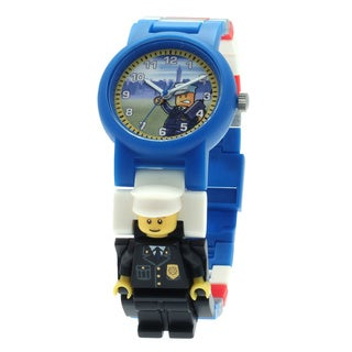 LEGO City Kid's Policeman Interchangeable Links w/Mini Doll Watch
