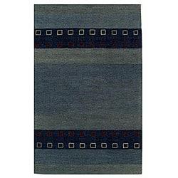 Blue Wool Rug (5' x 8')
