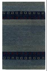 Blue Wool Rug (8' x 10'6) - Thumbnail 1