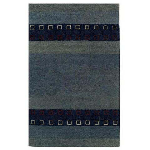 Blue Wool Rug - 8' x 10'6