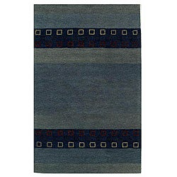 Blue Wool Rug - 8' x 10'6 - Thumbnail 0