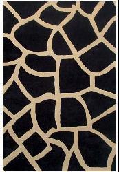 Black Giraffe Print Rug (5' x 8') - Thumbnail 1