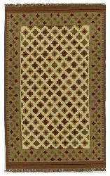 Dhurry Rust Rug (5' x 8')