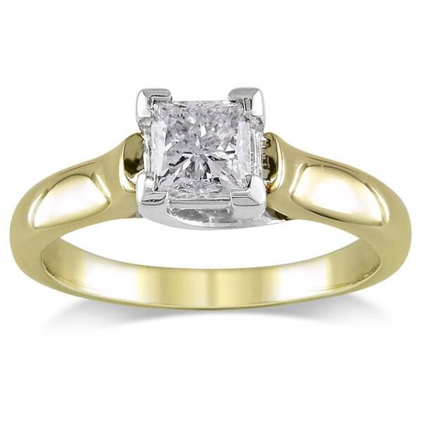 Miadora 14k Gold 1ct TDW IGL-certified Diamond Engagement Ring