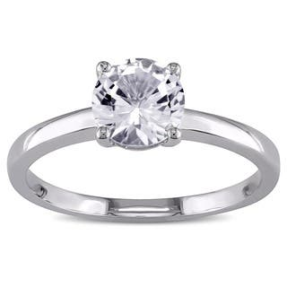 Miadora 10k White Gold Created White Sapphire Solitaire Ring|https://ak1.ostkcdn.com/images/products/4032164/P12053682.jpg?impolicy=medium