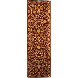 Safavieh Handmade Exquisite Wine/ Gold Wool Runner (2'3 x 10')