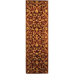 Safavieh Handmade Exquisite Wine/ Gold Wool Runner (2'3 x 12')
