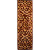 Safavieh Handmade Exquisite Wine/ Gold Wool Runner Rug - 2'3 x 12'